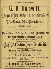 Werbung Hülswitt 1875